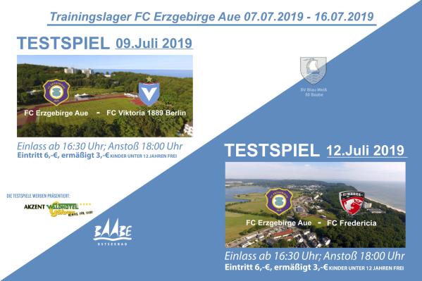 Testspiele des FC Erzgebirge Aue während des Trainingslagers in Baabe