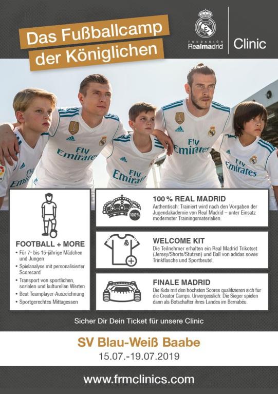 Real Madrid Fussballschule zu Gast in Baabe