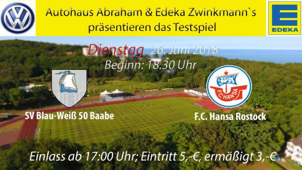 Testspiel SV Blau-Weiß 50 Baabe - FC Hansa Rostock