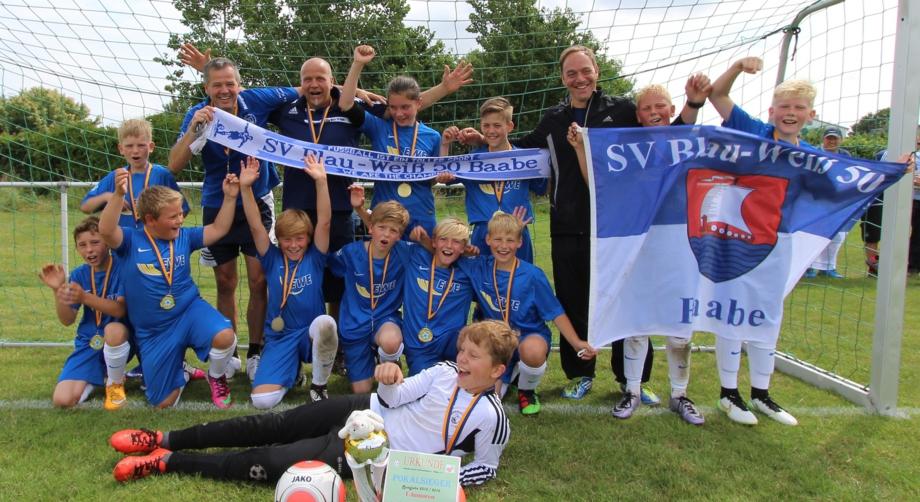 Pokalsieger 2015/2016 E-Jugend Blau-Weiß 50 Baabe