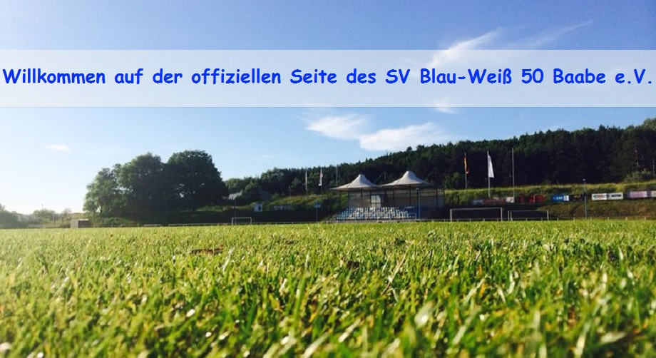 offizielle Webseite des SV Blau-Weiß 50 Baabe e.V.